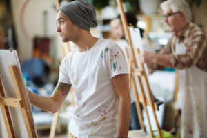 Painting therapy in rehab