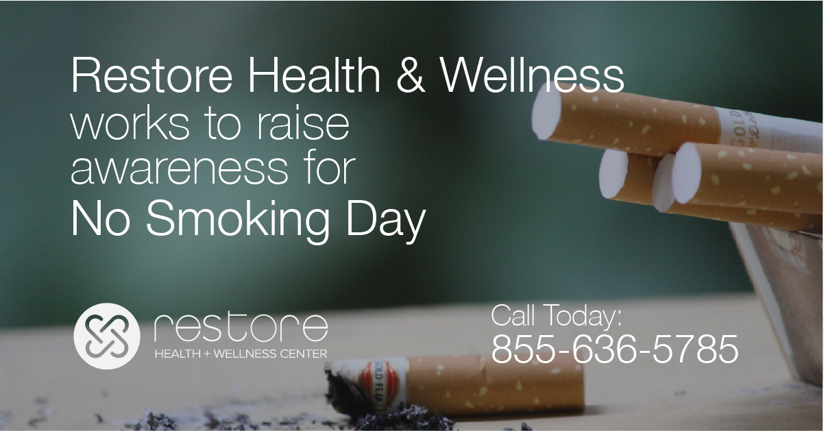 Restore Health and Wellness Works to Raise Awareness for No Smoking Day